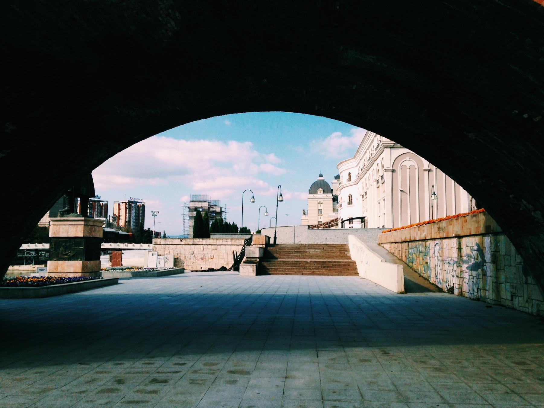 Under the Stone Bridge, there's a world [Skopje, 2017]