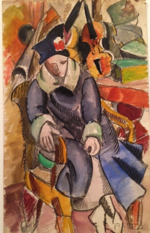 Konstantin Vialov, Seated woman (c.1919)