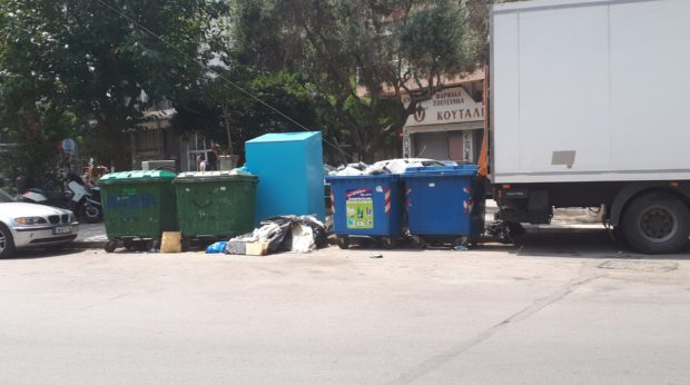 Recycling bins in Thessaloniki