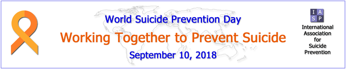 World Suicide Prevention Day Banner 2018
