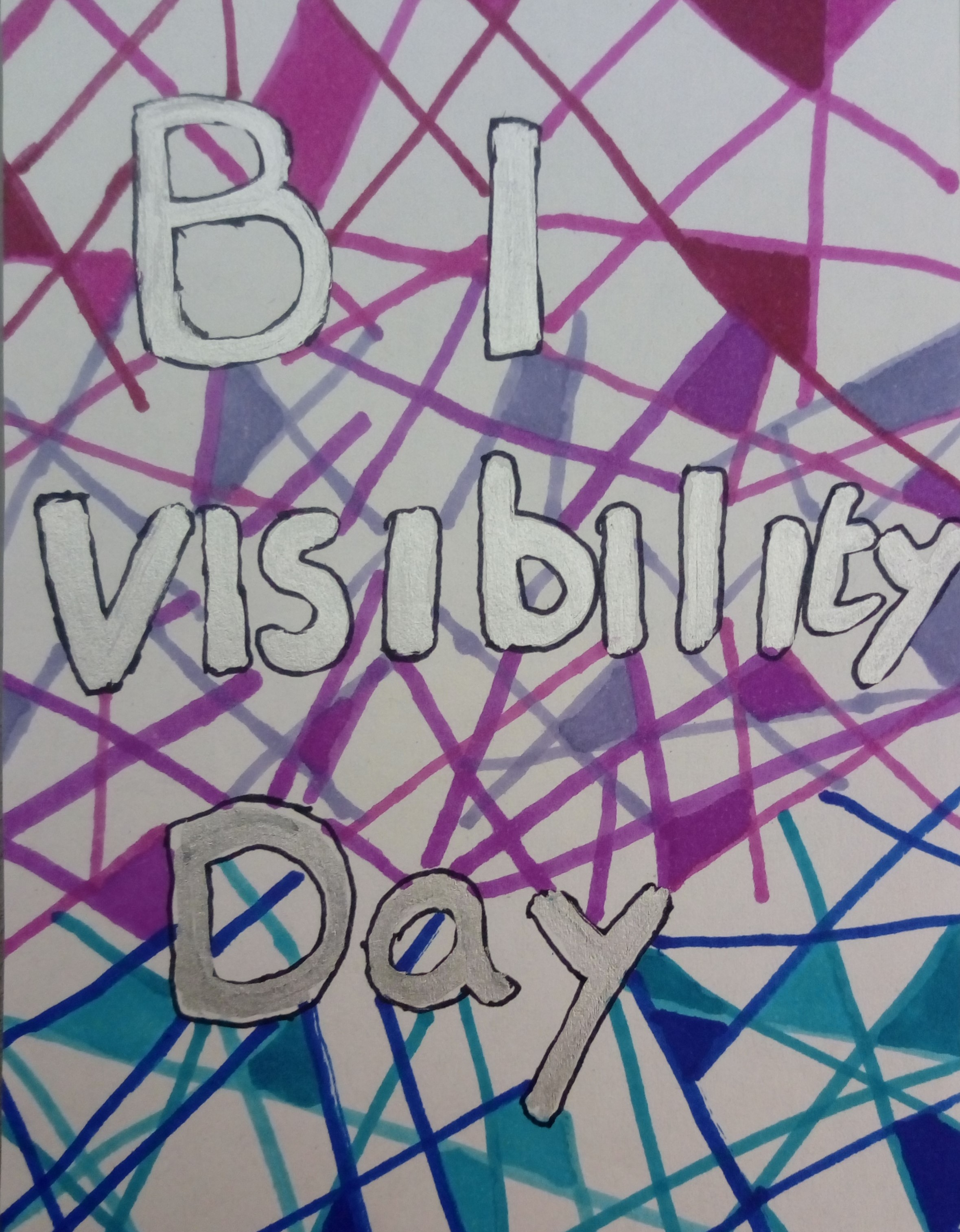 Bi Visibility Day drawing