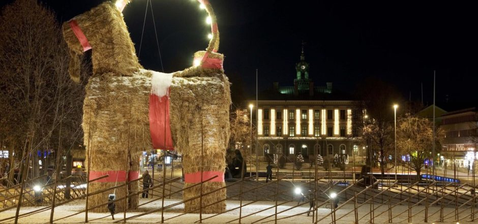 Swedish Christmas Goat from Gävle, julbocken