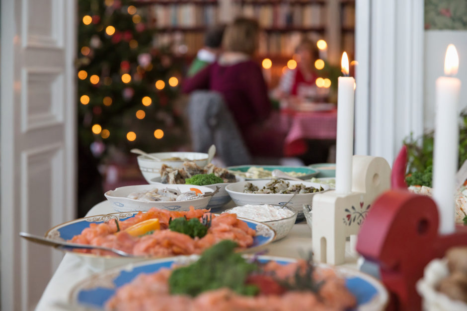 Swedish Christmas buffer or julbord