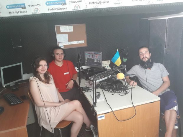 Good Morning Greece crew getting ready for Ukrainian music special