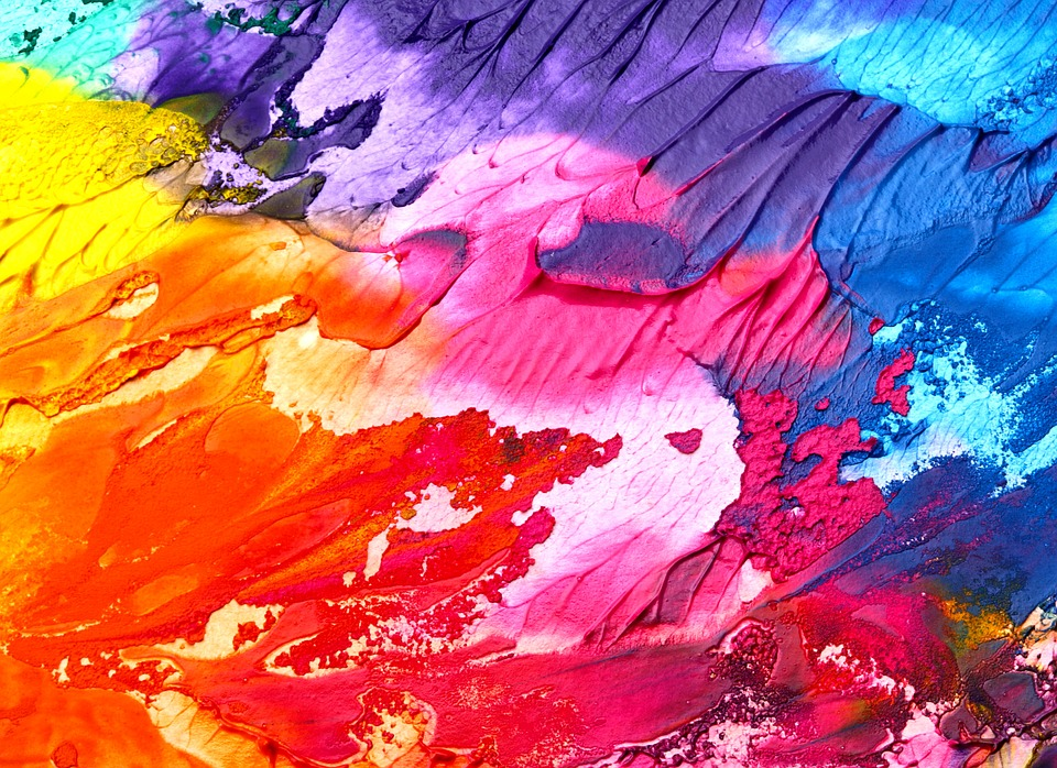 Paint in many different colours