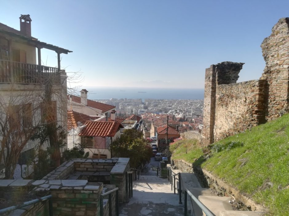 A shot from Ano Poli, looking out over the city center of Thessaloniki, Greece