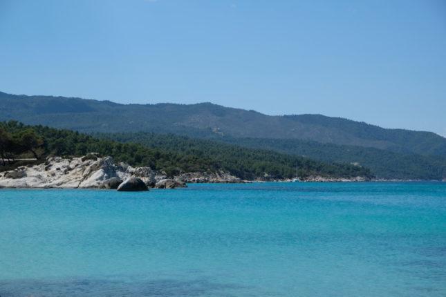 Travel idea for Erasmus in Thessaloniki: Kavourotripes Beach in Chalkidiki