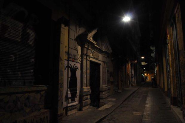 Walking during the night