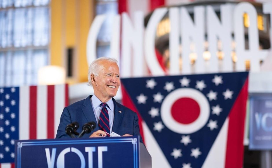 American elections, meeting organized for Joe Biden