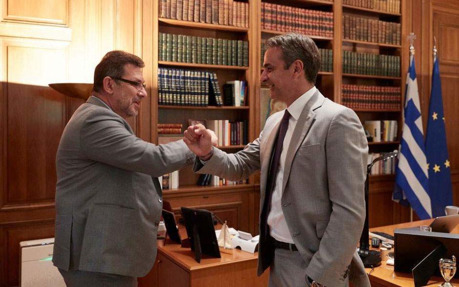 Albert Bourla and the PM of Greece Kyriakos Mitsotakis